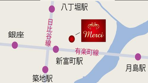 ポーセラーツ メルシー銀座 地図
